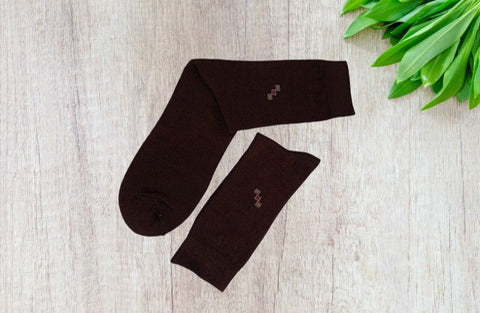 Bareblow Calf Length Socks Brown Colours