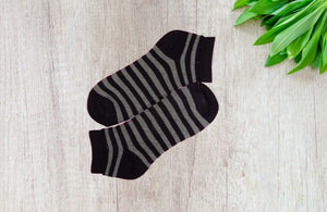 Bareblow Quarter Socks Grey Striper