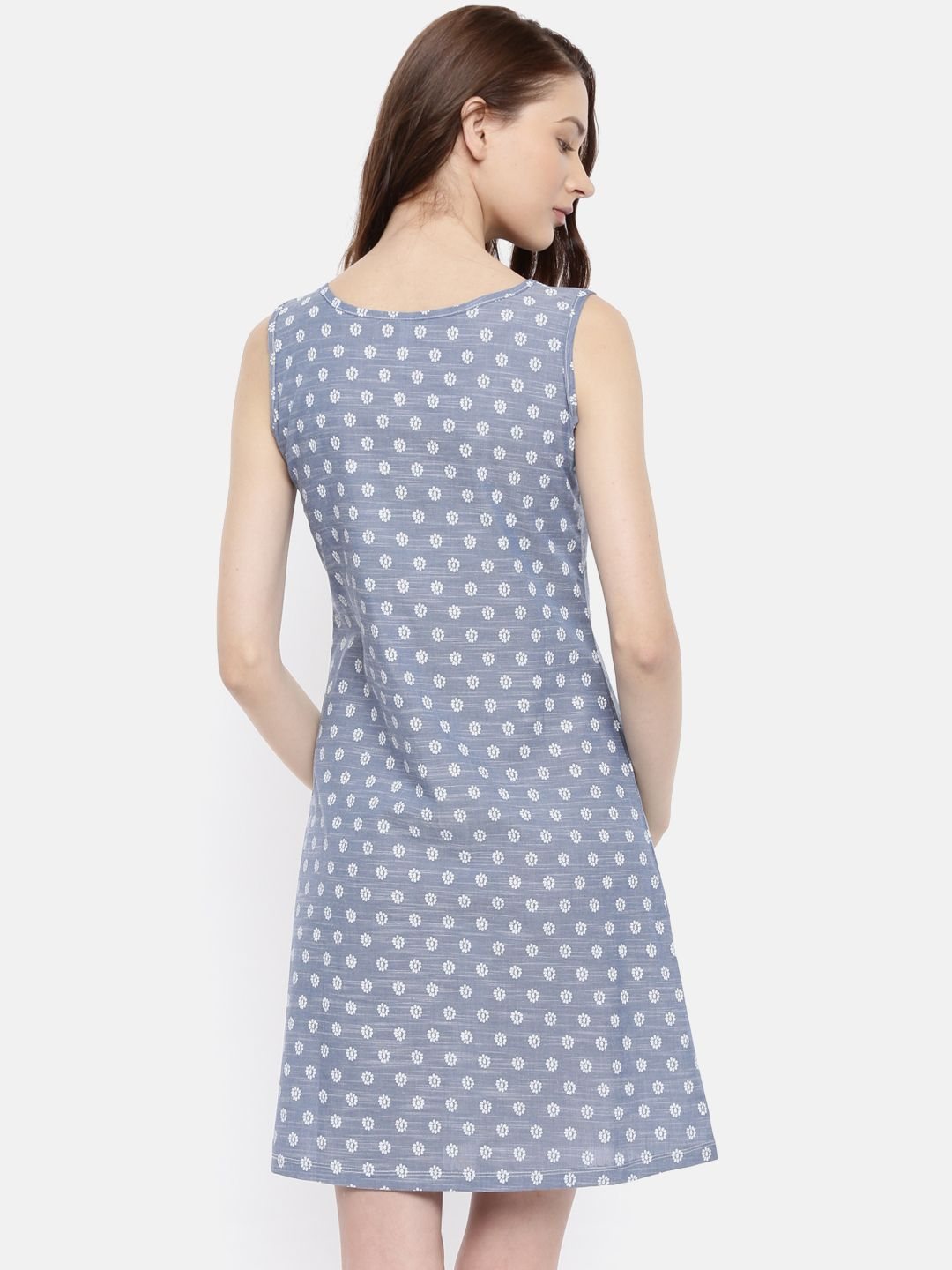 The Blue Printed Sheath Dress
