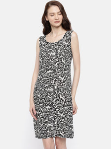 The Black & White Printed Sheath Dress