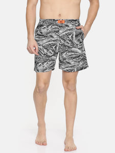 Bareblow Black Fish Eye Print Boxer
