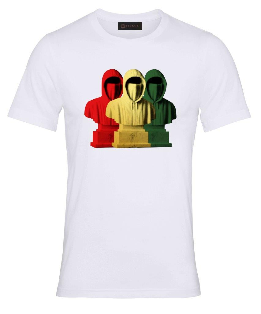Elensa Faceless - T-Shirt - Faceless 3 Colour Hoodie