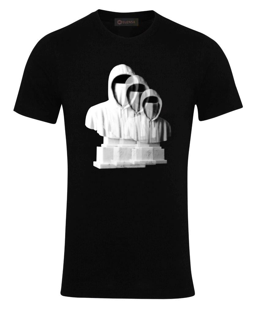 Elensa Faceless - T-Shirt - Shadow Hoodie Print