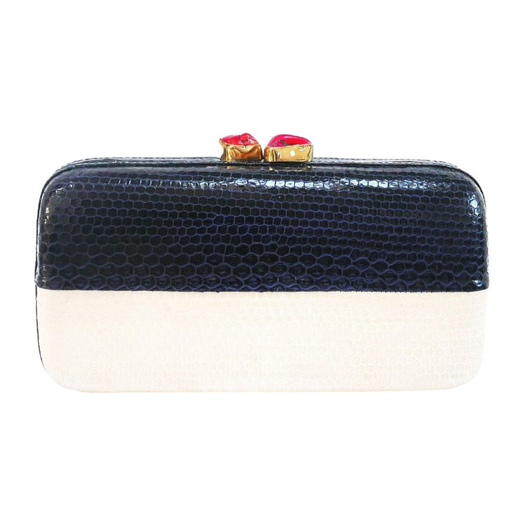 Mila Navy Clutch