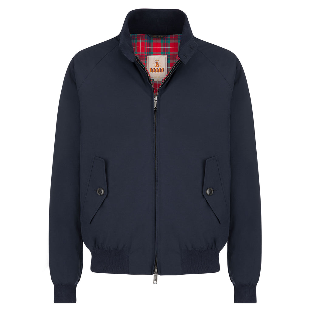 G9 Modern Classic Harrington Jacket - Baracuta Cloth in Navy