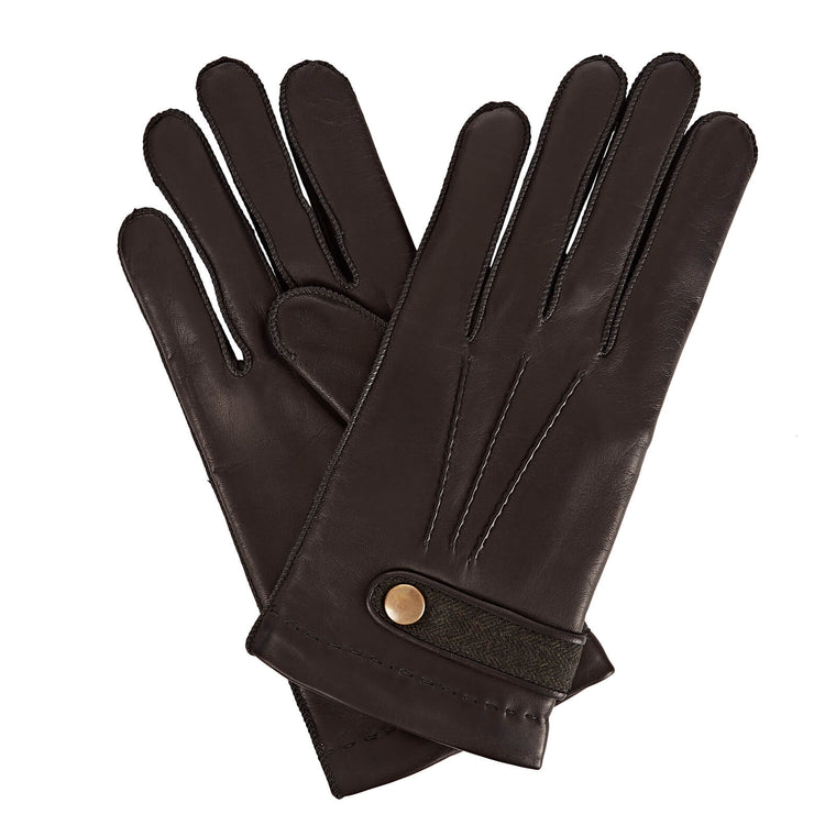 Gizelle Renee Alfie Men's Merino Wool Lined Leather Gloves