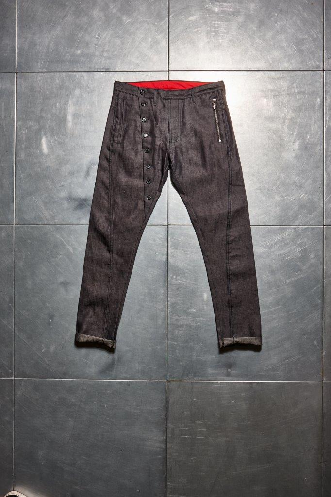 Faceless Twisted Jeans - Dark Denim