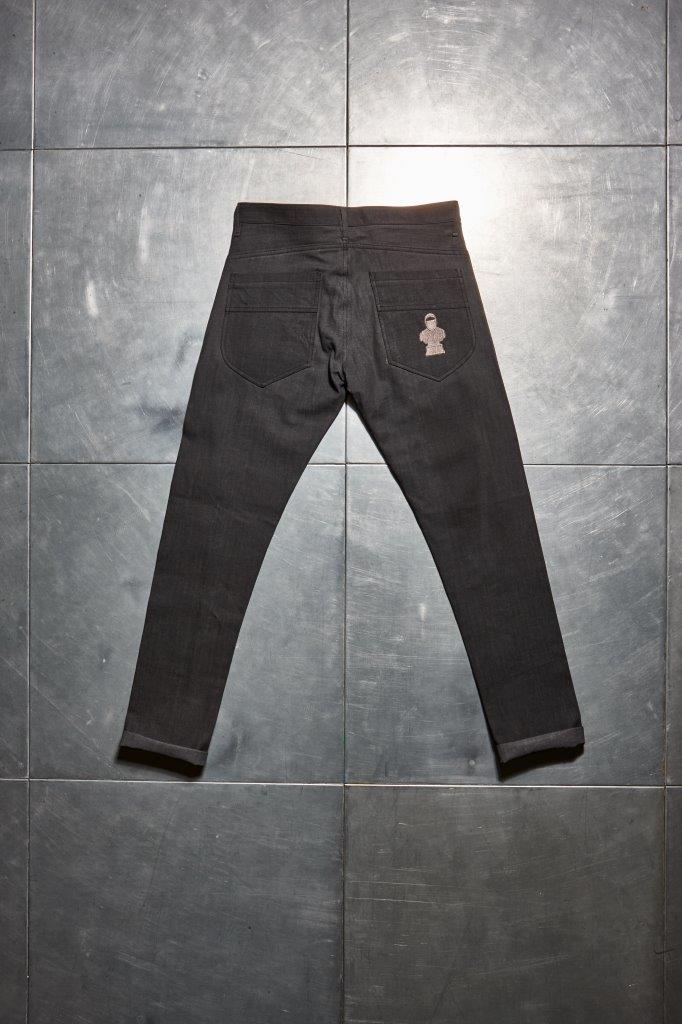 Faceless Twisted Jeans - Grey
