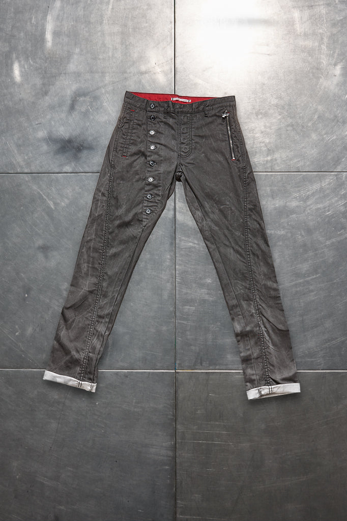 Faceless Twisted Jeans - Washed Grey