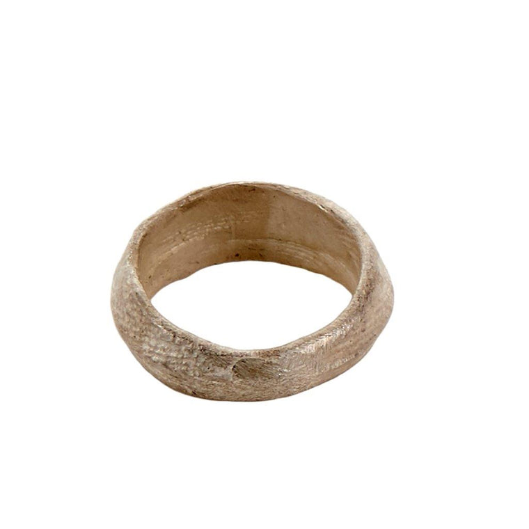 Tundra Jewellery Mini-Èn Oxidized Silver Ring  - White