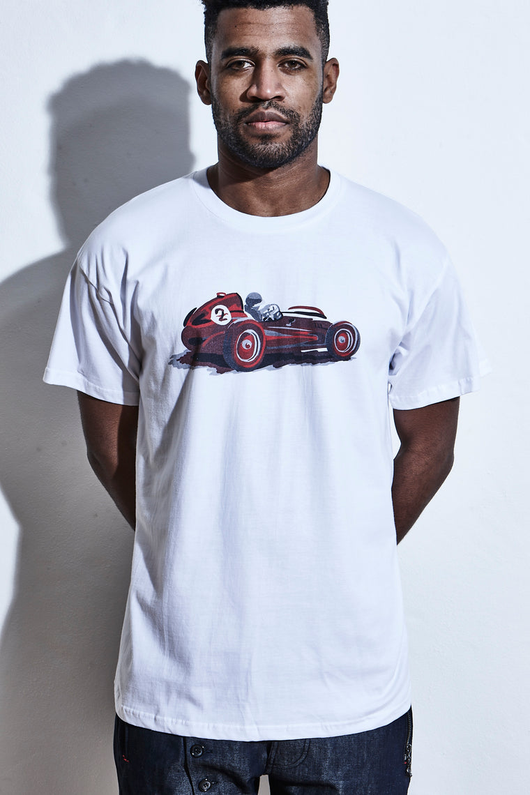 Elensa Race To Immortality - T-Shirt - Vintage Car Print