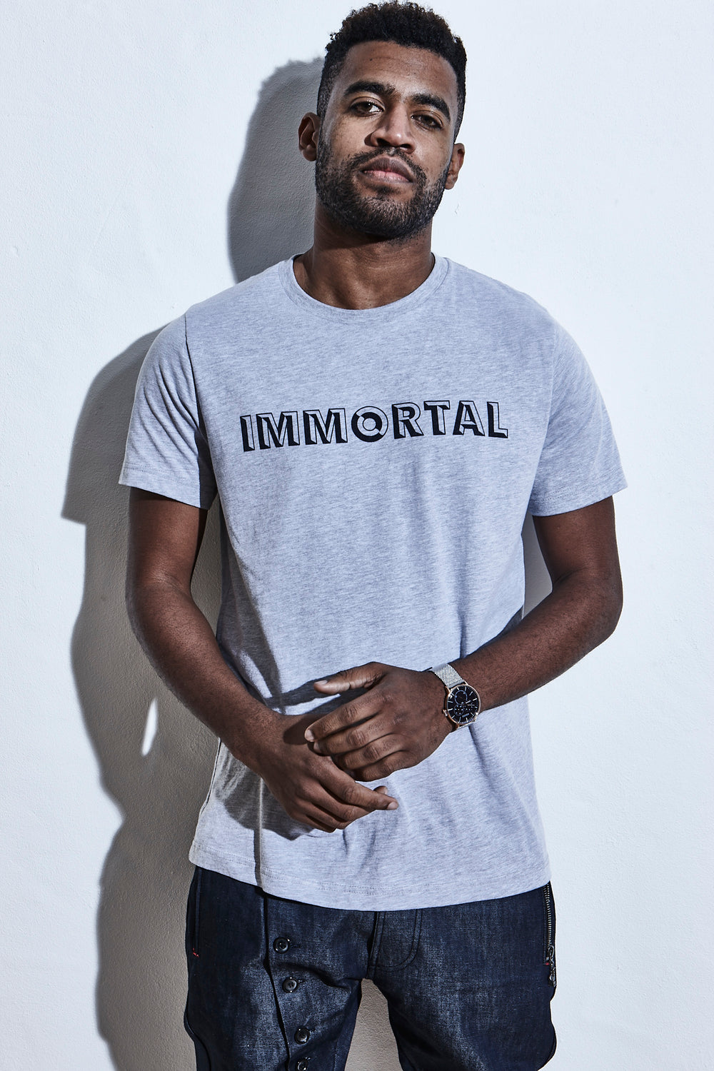 Elensa Race to Immortality T-Shirt - Immortal - Grey Marl