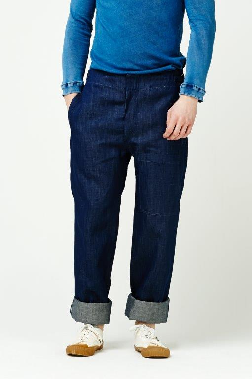The Cooper Collection by Lee Cooper Ernest Wide Leg Jeans - Indigo