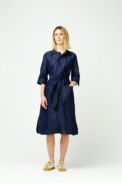 The Cooper Collection by Lee Cooper Florence Denim Shirt Dress - Indigo