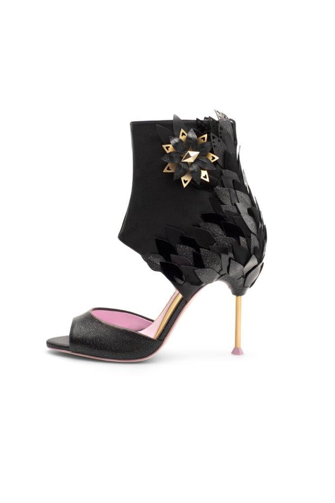Piagetti Magnolia High Heel Sandal Boot - Black