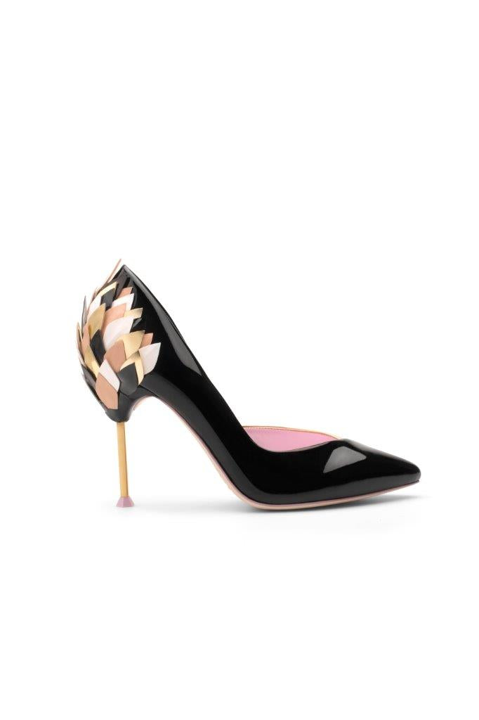 Piagetti Flower High Heel Pump - Black