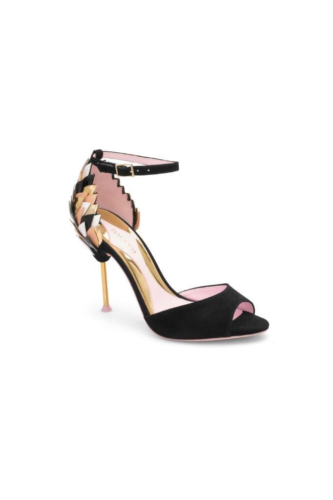 Piagetti Lisa Flower Sandal - Black