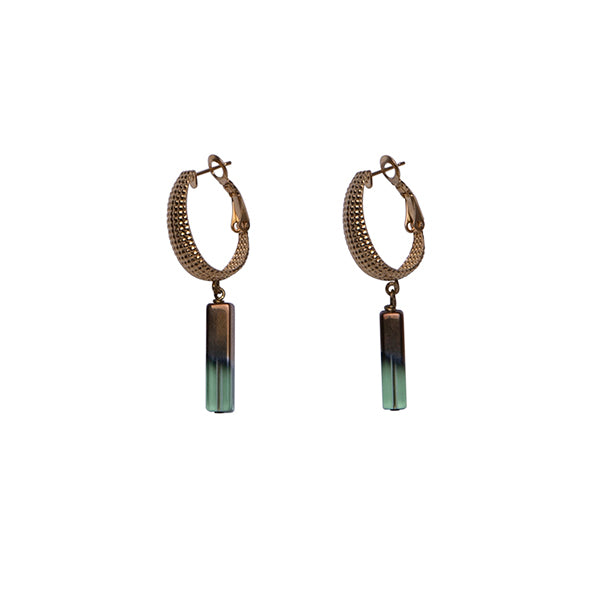 Sam Ubhi Green Pendant Earrings