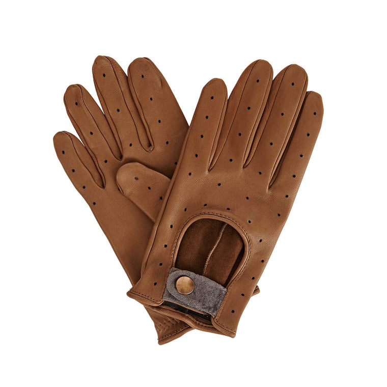 Gizelle Renee Bernadette Perforated Nappa Lambskin Driving Glove
