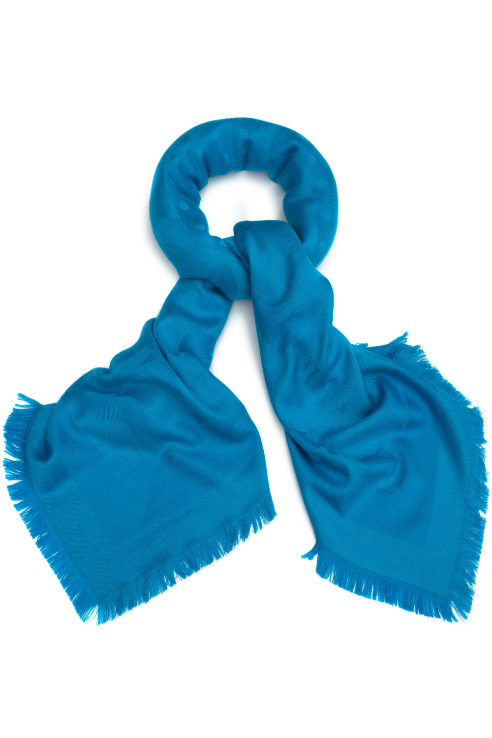 Oversized All Over Slipper Scarf in Cyan