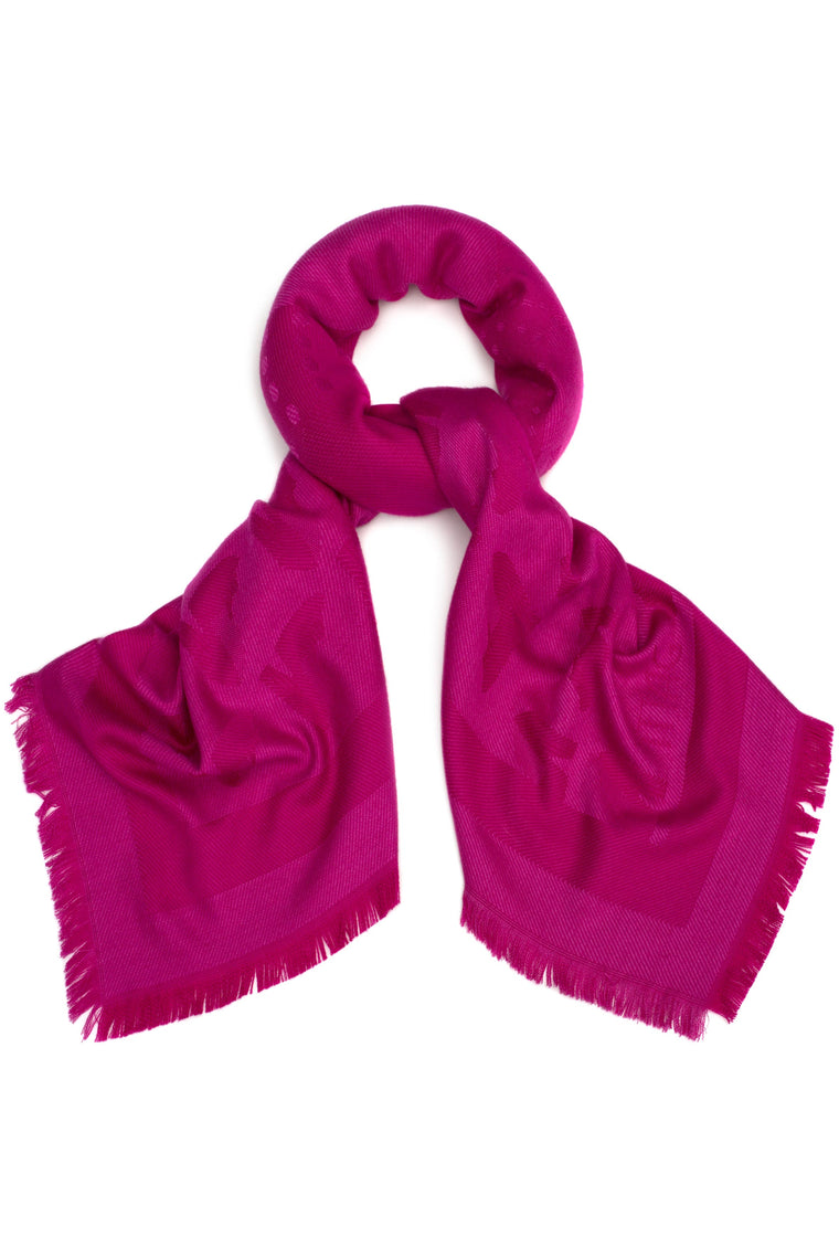 Oversized All Over Slipper Scarf in Fuchsia