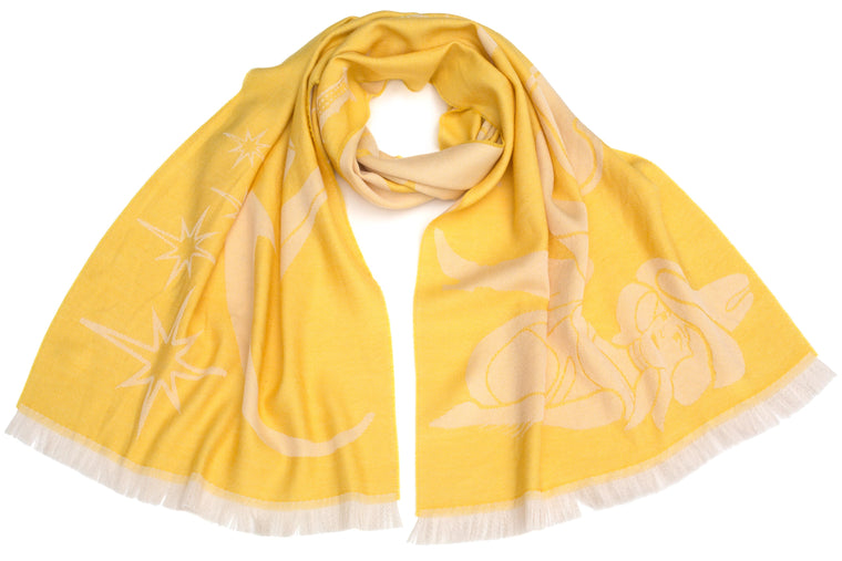 Neon Signs Scarf in Yellow
