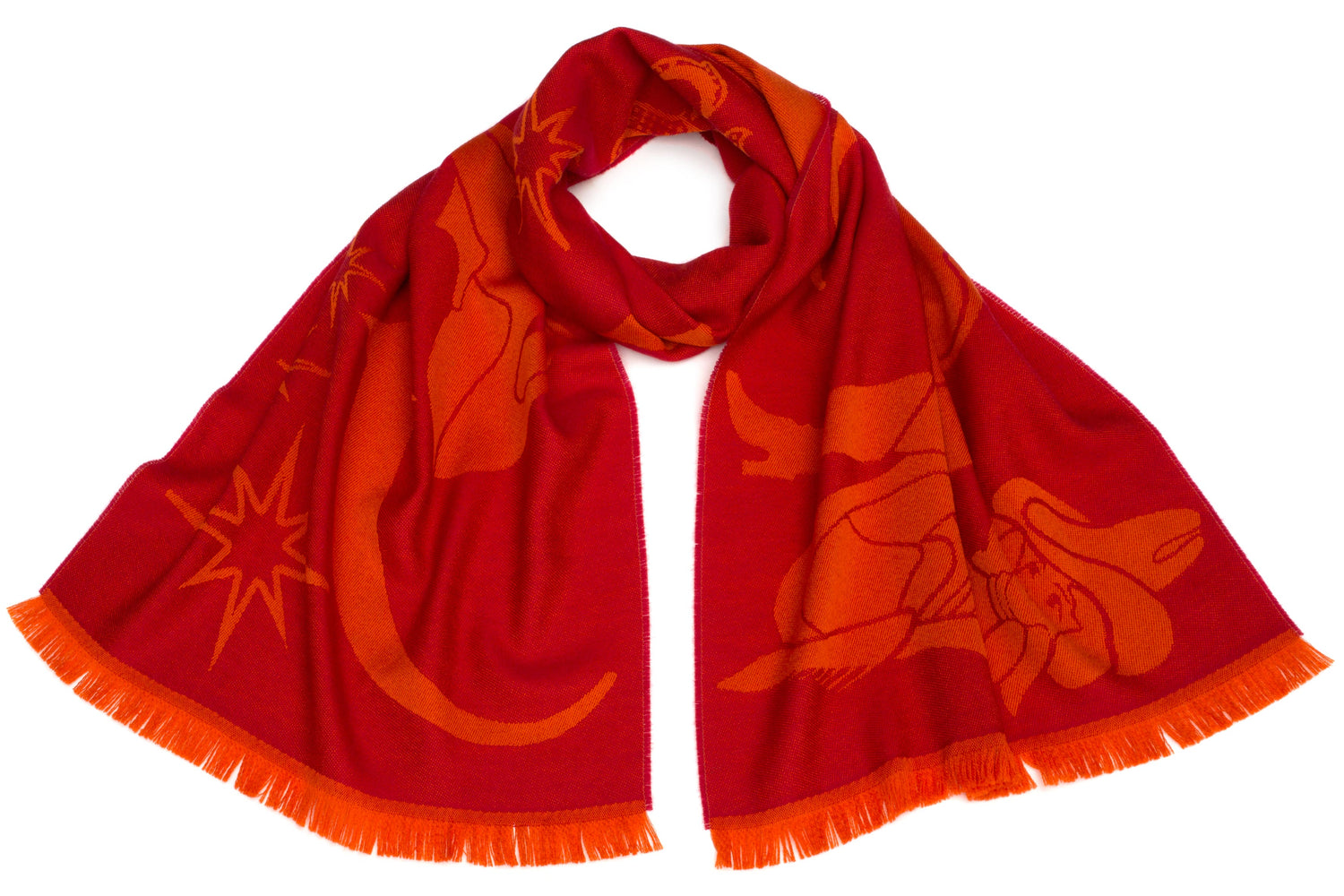 Neon Signs Scarf in Red