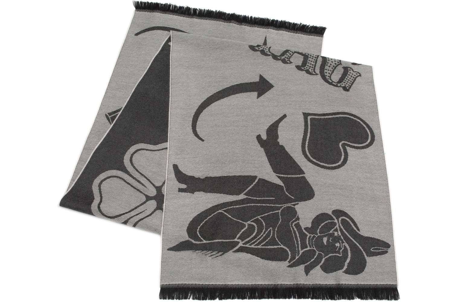 Neon Signs Scarf in Black