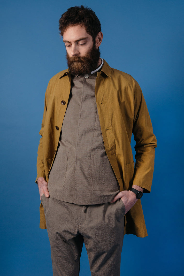 Kestin Hare Berwick Shop Coat in Camel