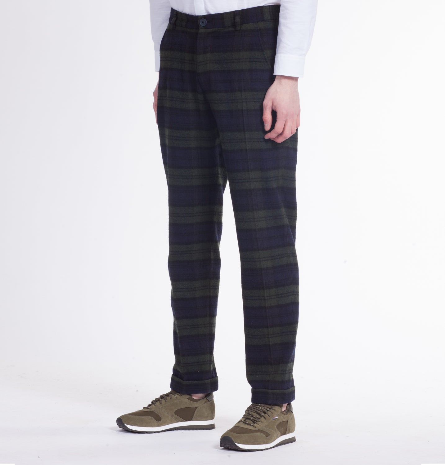 Marlow Slim Fit Trouser in Navy/Olive