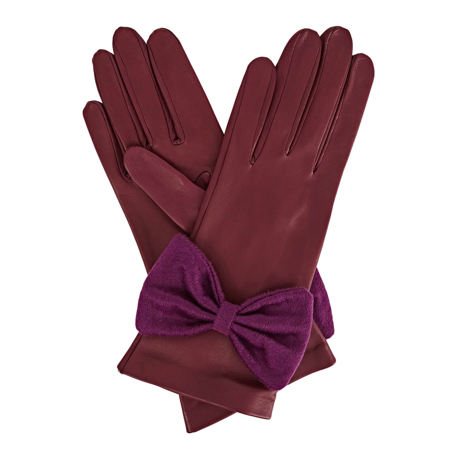 Gizelle Renee Josephine Nappa Lambskin Unlined Glove Embellished with a Hand-sewn Bow