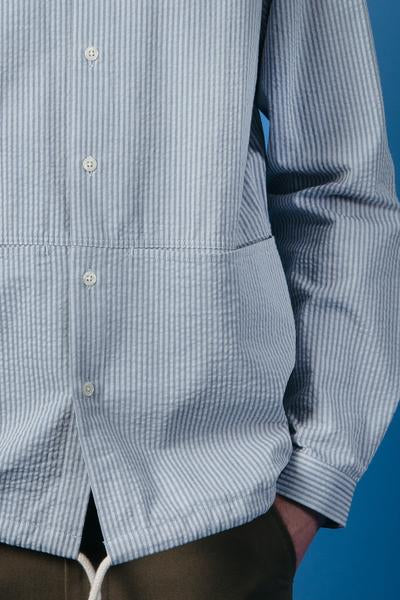 Kestin Hare Armadale Shirt in Blue Stripe