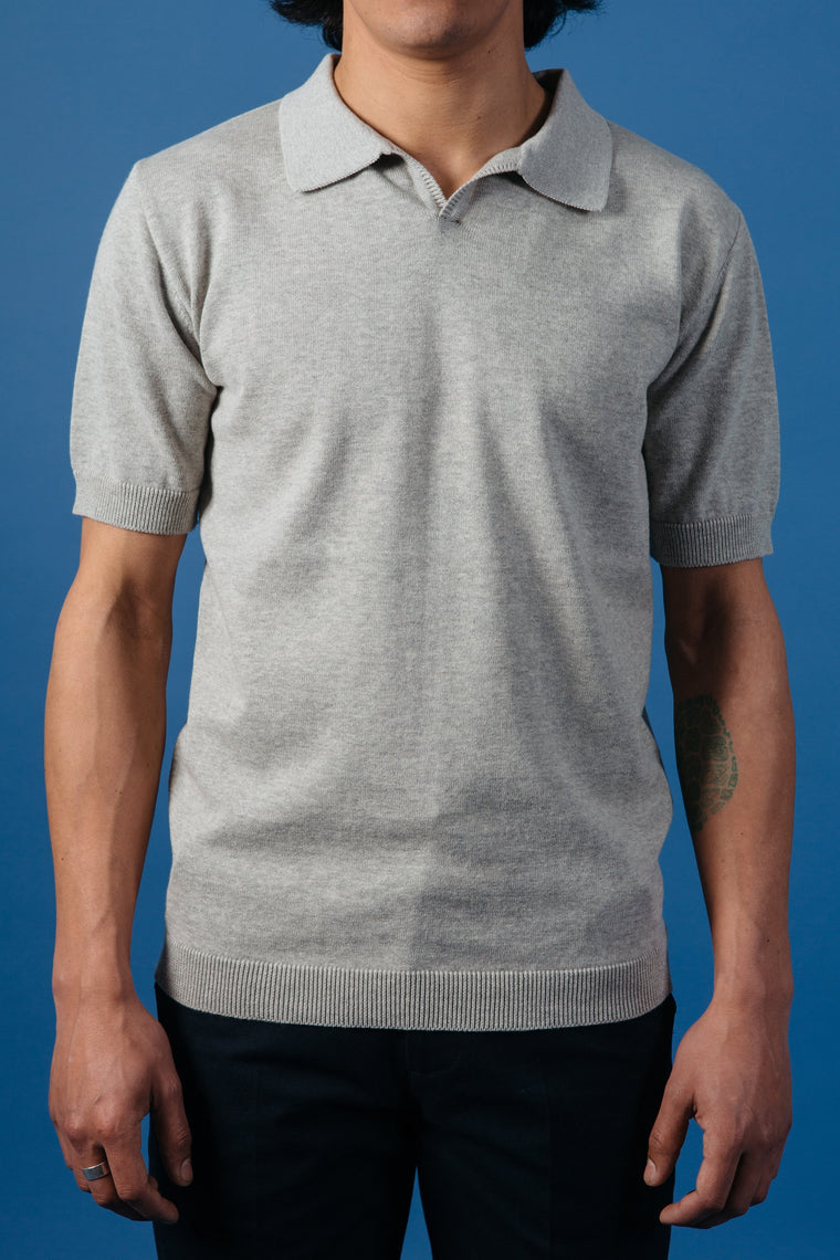 Kestin Hare Newport Polo in Grey Marl