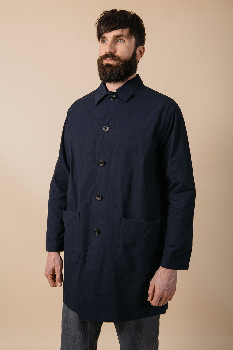 Kestin Hare Berwick Shop Coat in Navy