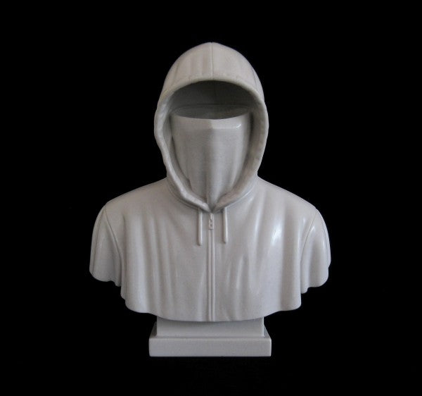 Hoodie Cast Carrara Marble in White