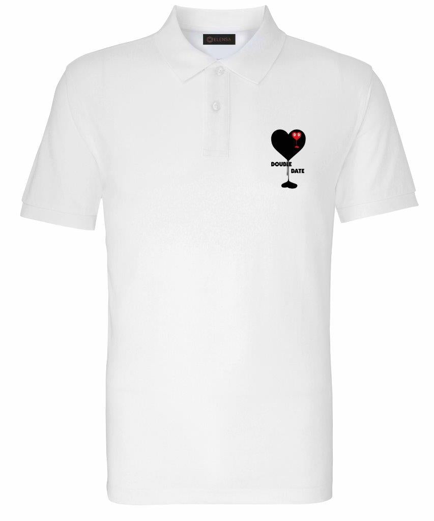 Elensa Double Date - Dripping Heart Embroidered Polo