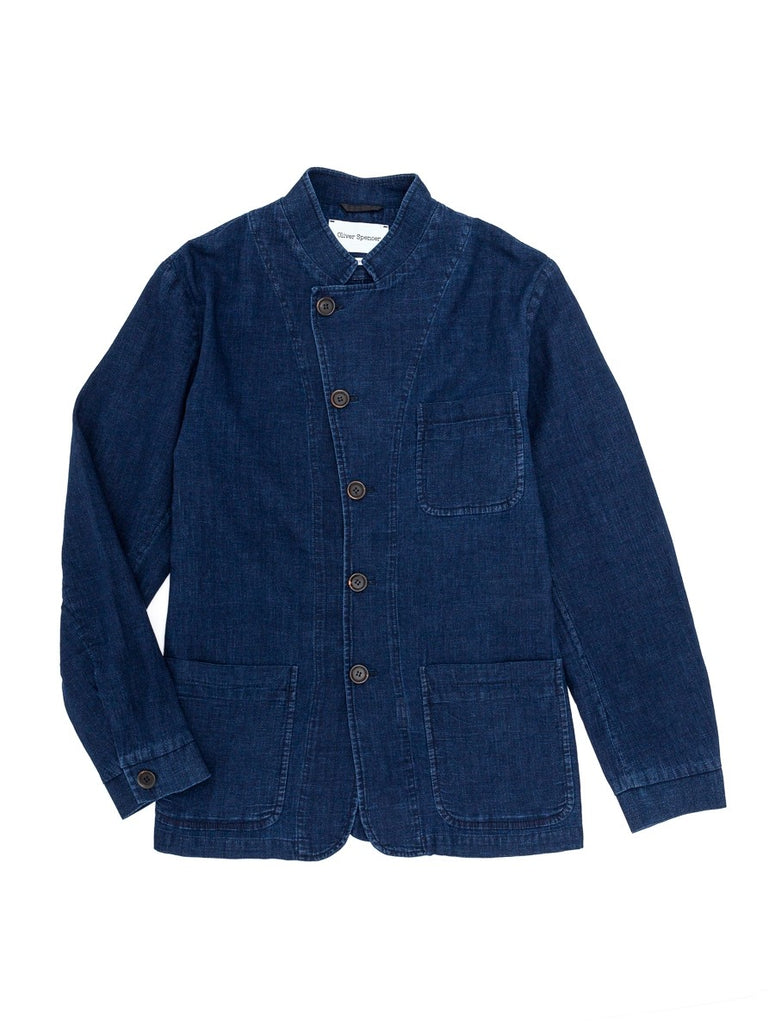 Oliver Spencer Artist Jacket Kildale in Indigo Rinse
