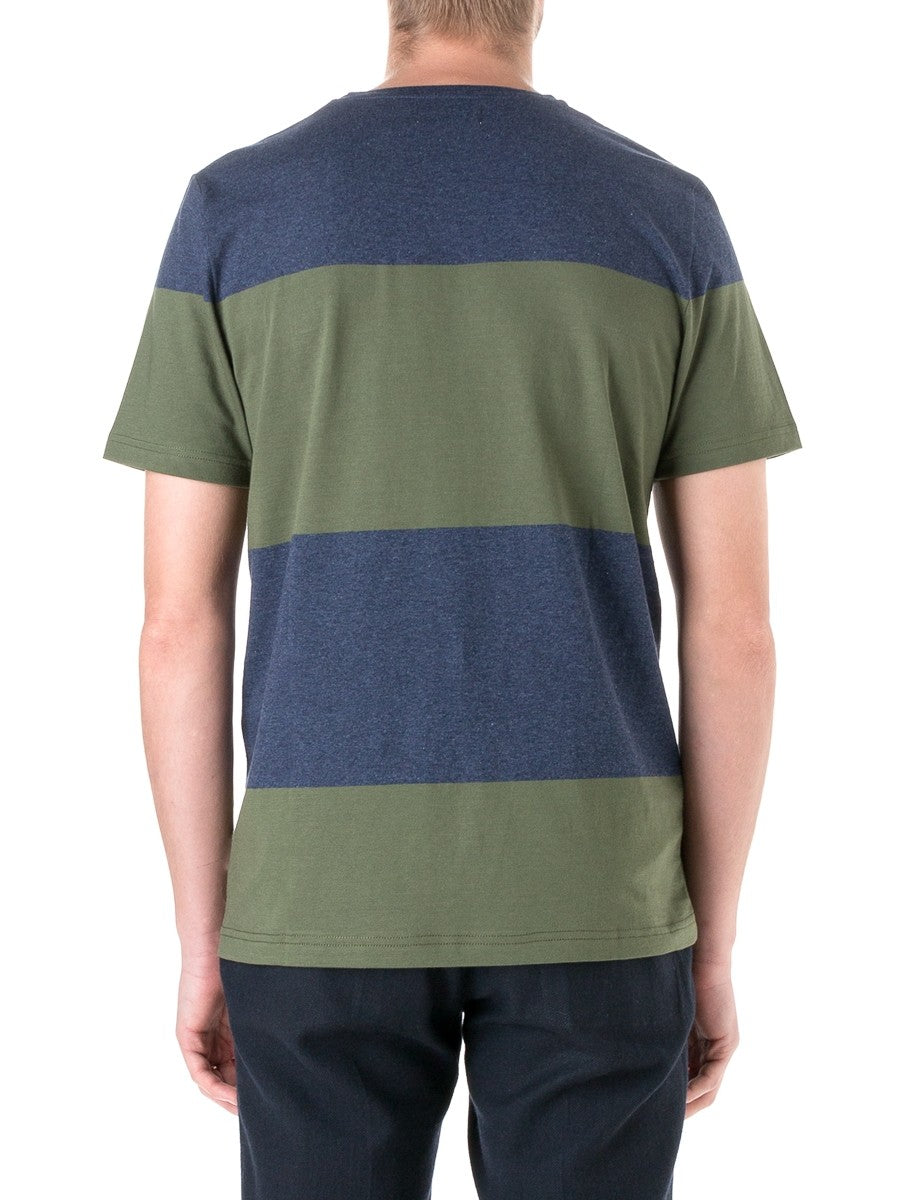 Conduit T-Shirt Elba in Navy/Green