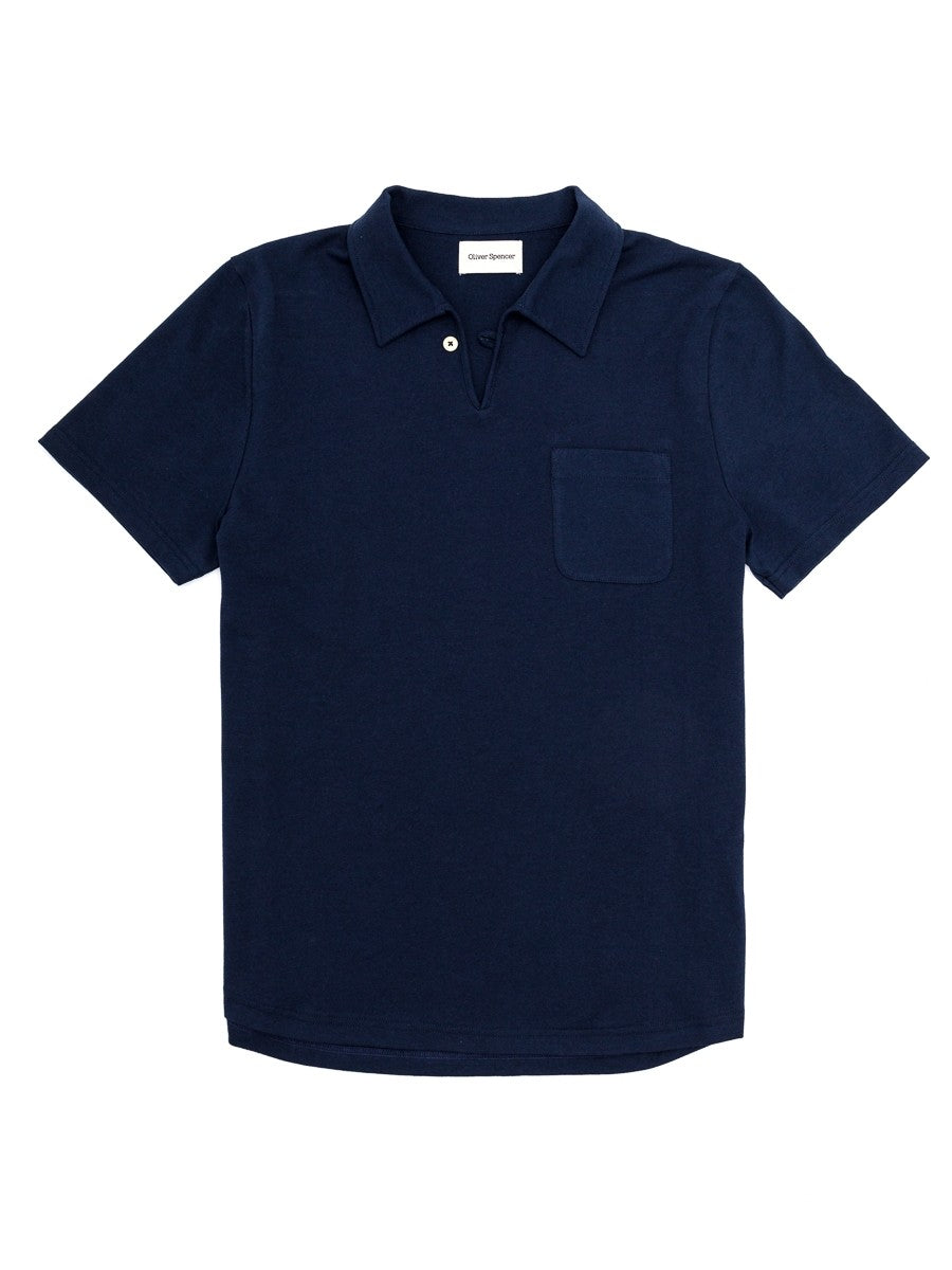 Oliver Spencer Hawthorn Polo Farnley in Navy