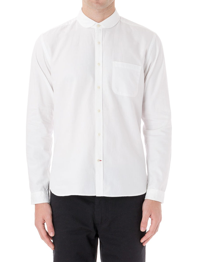 Soft Oxford Grandad Shirt - White