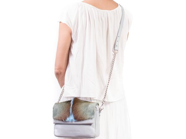Sherene Melinda Shoulder Bag with Fan - Baby Blue