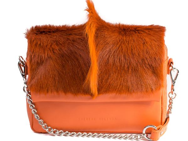 Sherene Melinda Shoulder Bag with Fan - Orange