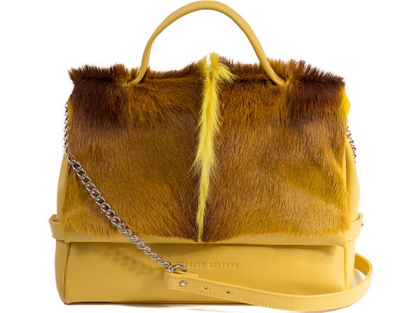 Sherene Melinda Smith Tote Bag with Fan - Yellow