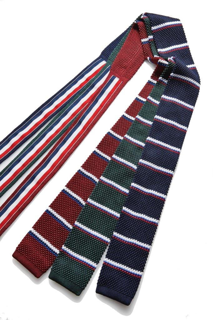 Elensa Alfa Narrow Knitted Stripe Tie