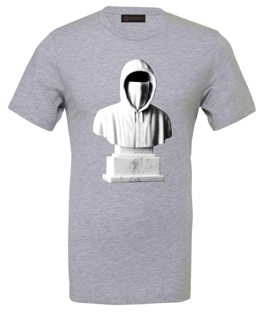 Elensa Faceless - T-Shirt - Large Hoodie Print