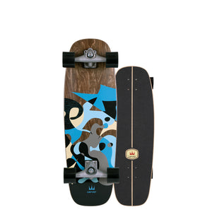 "Carver Skateboards UK - 30"" Blue Ray - CX Complete"