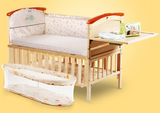 High Quality Pine Wood Baby Bed