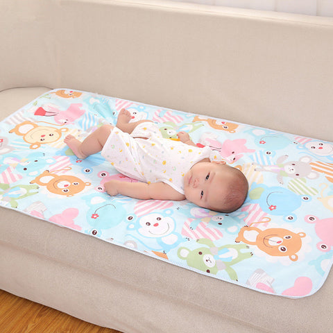 Cartoon Cotton 3 Layers Baby Waterproof Mat