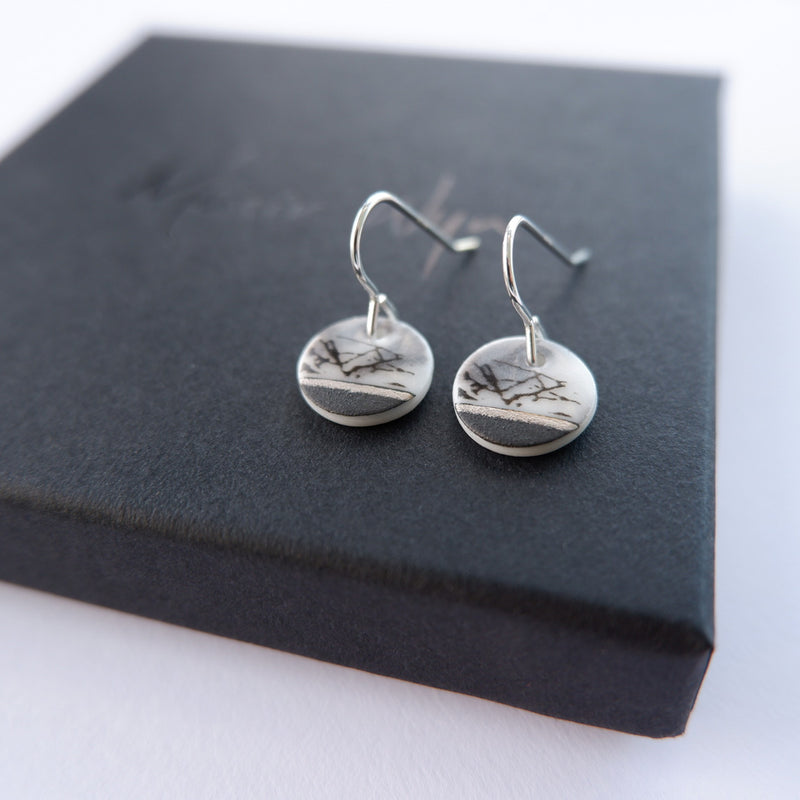 Small  Abstract Drop Earrings