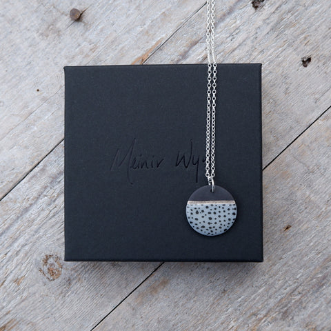 Black & Blue Dotted Necklace